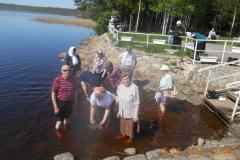 в мужском монастыре на озере