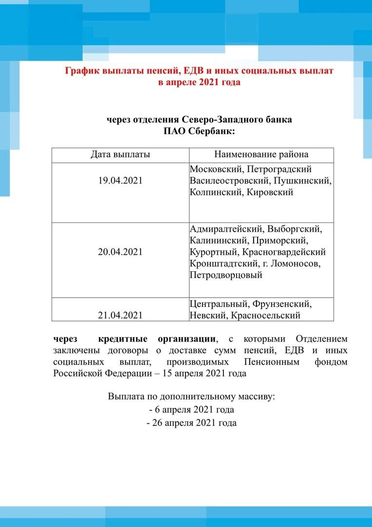 График выплат в апреле СПб_2